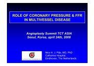 role of coronary pressure & ffr in multivessel disease - summitMD.com