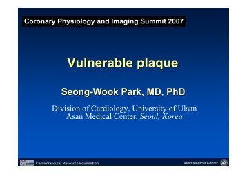 Vulnerable plaque - summitMD.com