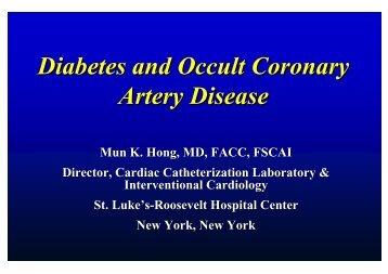 Diabetes and Occult Coronary Artery Disease - summitMD.com