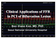 Clinical Applications of FFR in PCI of Bifurcation ... - summitMD.com