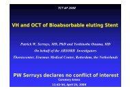 Bioabsorbable Drug Everolimus Eluting Stent - summitMD.com