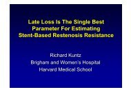 Late Loss Is The Single Best Parameter For ... - summitMD.com