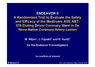 ENDEAVOR II A Randomized Trial to Evaluate the ... - summitMD.com