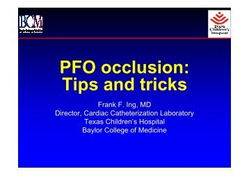 PFO occlusion: Tips and tricks - summitMD.com