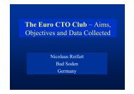 The Euro CTO Club – Aims, Objectives and Data ... - summitMD.com