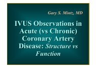 IVUS Observations in Acute (vs Chronic) Coronary ... - summitMD.com