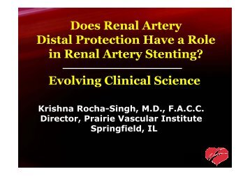 Does Renal Artery Distal Protection Have a Role in ... - summitMD.com