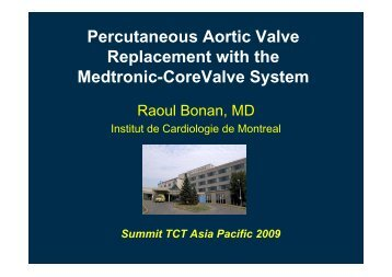 Percutaneous Aortic Valve Replacement with the ... - summitMD.com