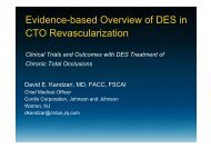 Evidence-based Overview of DES in CTO ... - summitMD.com