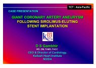 giant coronary artery aneurysm following sirolimus ... - summitMD.com