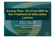 Axxess Plus: The First DES for the Treatment of ... - summitMD.com