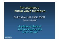 Percutaneous mitral valve therapies Percutaneous ... - summitMD.com
