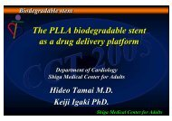 The PLLA biodegradable stent as a drug delivery ... - summitMD.com