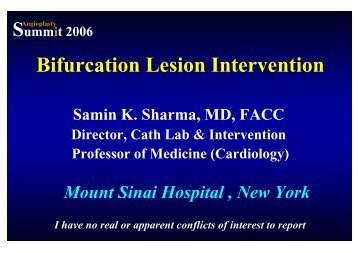 Bifurcation Lesion Intervention - summitMD.com