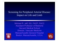 Screening for Peripheral Arterial Disease: Impact ... - summitMD.com
