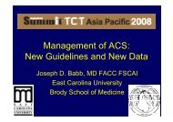 Management of ACS: New Guidelines and New Data - summitMD.com