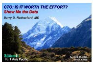CTO: IS IT WORTH THE EFFORT? Show Me the ... - summitMD.com