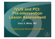 IVUS and PCI: Pre-intervention Lesion Assessment - summitMD.com