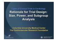 Rationale for Trial Design: Size, Power, and ... - summitMD.com