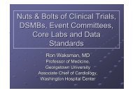 Nuts & Bolts of Clinical Trials, DSMBs, Event ... - summitMD.com