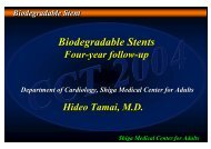 Biodegradable Stents - summitMD.com