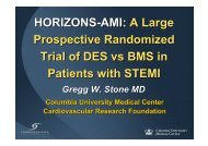 HORIZONS-AMI: A Large Prospective Randomized ... - summitMD.com