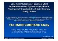The MAIN-COMPARE Study The MAIN-COMPARE ... - summitMD.com