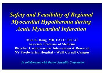 Safety and Feasibility of Regional Myocardial ... - summitMD.com