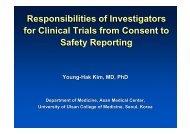 Responsibilities of Investigators for Clinical Trials ... - summitMD.com