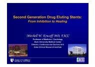 Second Generation Drug Eluting Stents - summitMD.com