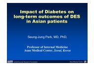 Impact of Diabetes on long-term outcomes of DES ... - summitMD.com