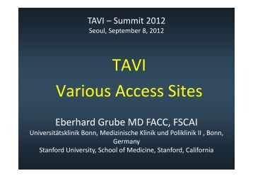 TAVI Various Access Sites - summitMD.com