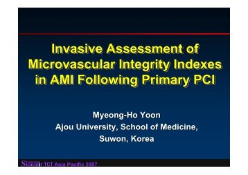 Invasive Assessment of Microvascular Integrity ... - summitMD.com