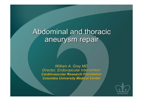 Abdominal and thoracic aneurysm repair - summitMD.com