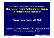 TAPT: Adjunctive Cilostazol to Aspirin and ... - summitMD.com