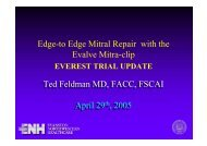 Edge-to Edge Mitral Repair with the Evalve Mitra ... - summitMD.com