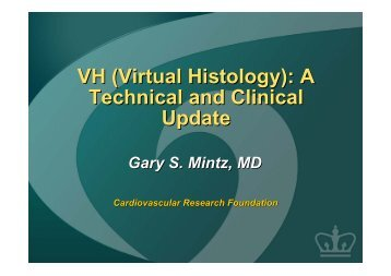 VH (Virtual Histology): A Technical and Clinical ... - summitMD.com