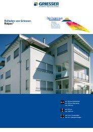 Rolladen von Griesser. Rolpac® - Sun-Protect GmbH