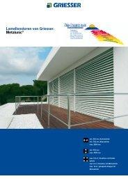 Lamellenstoren von Griesser. Metalunic® - V. Proietto GmbH