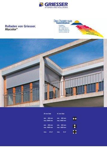 Produktprospekt und techn. Infos - Sun-Protect GmbH