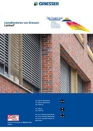 Lamellenstoren von Griesser. Lamisol® - V. Proietto GmbH