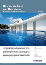 Das weisse Haus von Barcelona. - Sun-Protect GmbH
