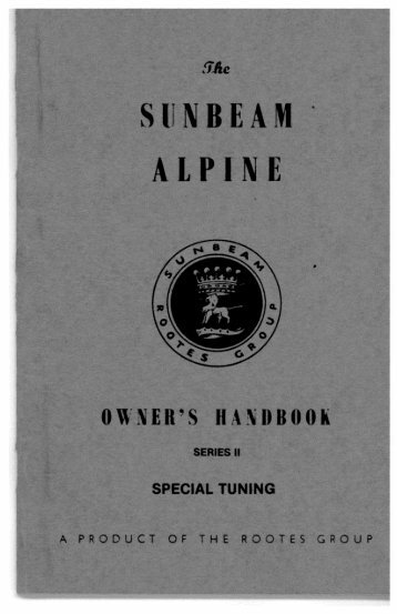 PDF copy available click here - The Sunbeam Alpine Owners Club ...