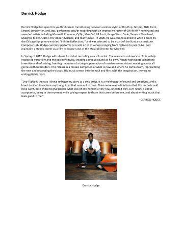 Derrick Hodge - Sundance Institute