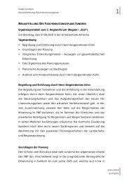 Protokoll Regionsforum I - Sundern