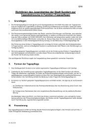 Richtlinien des Jugendamtes der Stadt Sundern zur ...