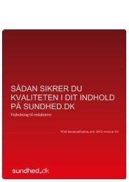 SÃ…DAN SIKRER DU KVALITETEN I DIT INDHOLD PÃ… SUNDHED.DK