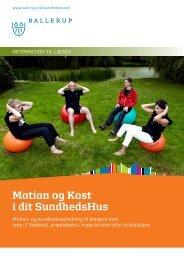 Motion og Kost i dit SundhedsHus (MKiS) - Sundhed.dk