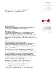 §2-aftale om implementering af forebyggende ... - Sundhed.dk