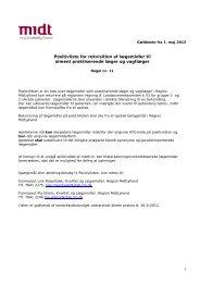 1 Positivliste for rekvisition af lægemidler til alment ... - Sundhed.dk